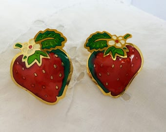 Vintage Strawberry Earrings