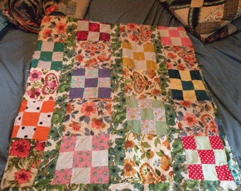 Vintage Block of Nine Quilt