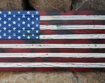 American Flag.  Distressed Red, White & Blue.