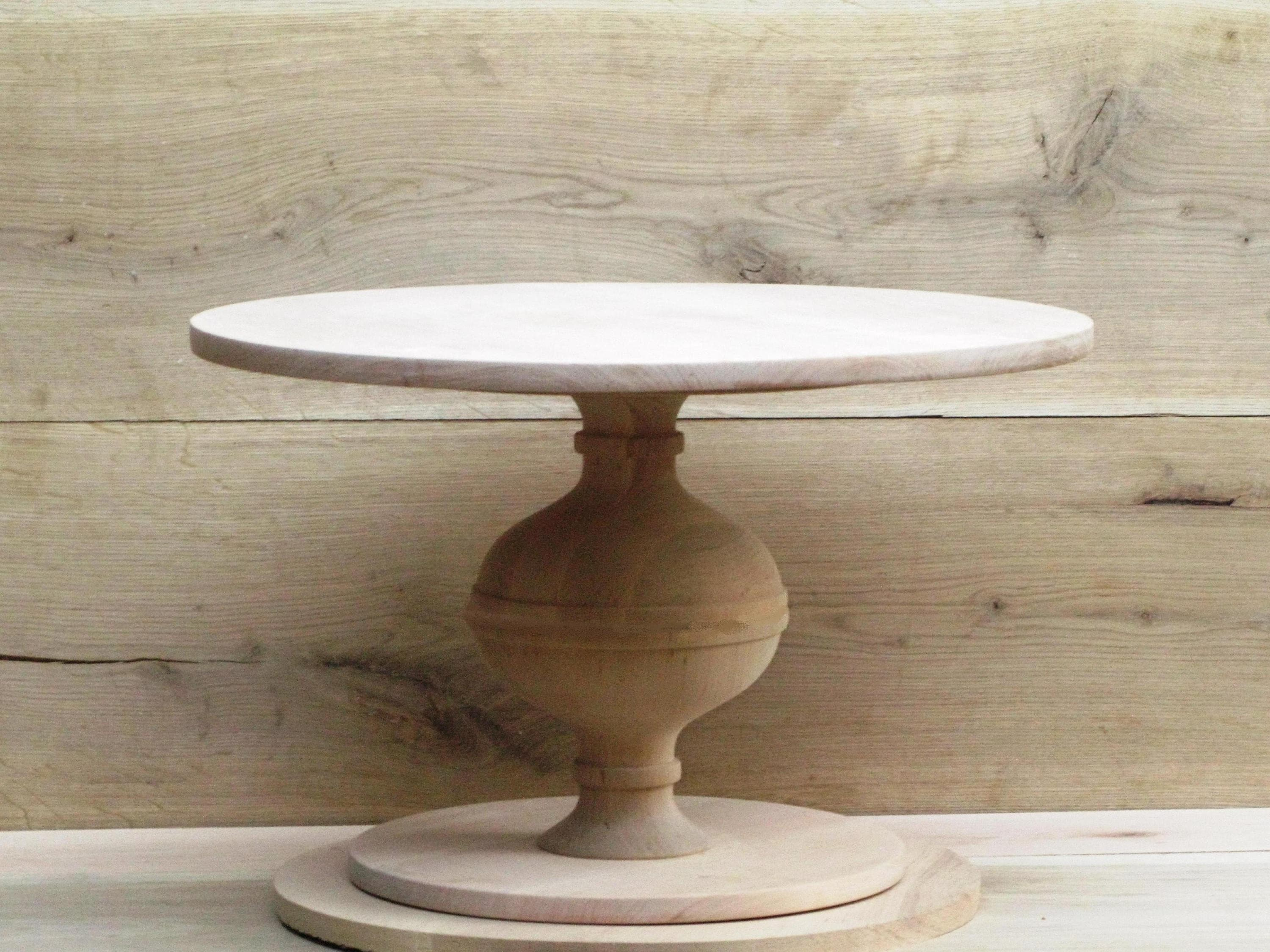 Rustic Wedding Wood Cake Stand: Custom Rustic Wedding Cake Stand Sturdy Wood Cake Stand For