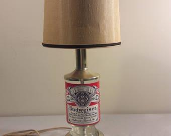 1970s Budweiser Lager Beer Lamp