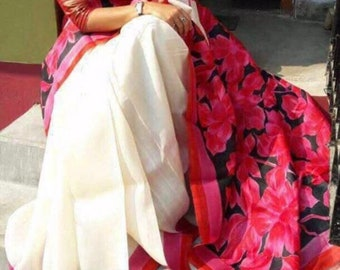 Handpainted Bhishnupuri Silk Saree