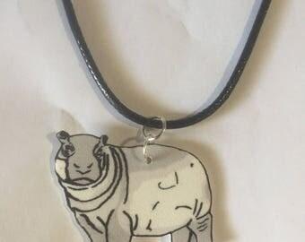 fiona the hippo charm necklace