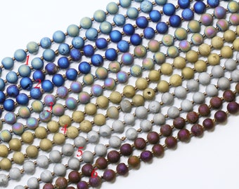 Lovely bead Handmade 8mm Double Knotted Druzy Necklaces 36 Inches Long