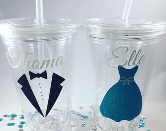 Ring Bearer Tumbler, Flower Girl Tumbler, Bridal Party Gift, Personalized Wedding Tumbler, Personalized Ring Bearer or Flower Girl Cup