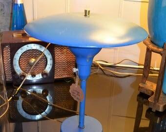 Vintage Metal Blue Lamp