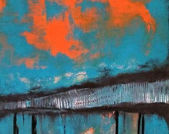 Abstract art, Original Painting, Orange Painting