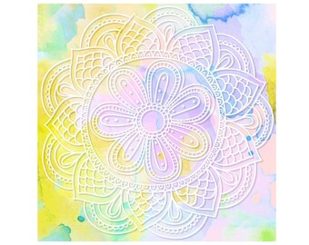 Watercolour Mandala Clip Art Graphic Design PNG High Resolution I61