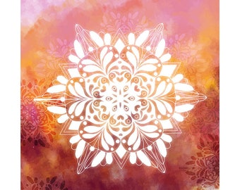 Watercolour Mandala Clip Art Graphic Design PNG High Resolution I63