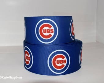 "Chicago Cubs 2"" Grosgrain Ribbon 110A By the Yard"