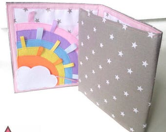 Mini quiet book, busy book, activitybook, softbook, sensory book toy for girls, for tddlers aged 1-3