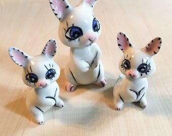 Porcelain Bunny Rabbit Set