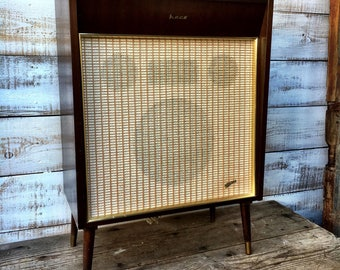 "Mid Century West German Speaker by Heco. 5 Ohm.  ""Magnetfabrik Dortmund Dew"""