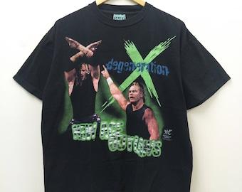 Vintage D-Generation X//WWF Wrestling//Size L//Wrestling legend Stone Cold Hulk The Rock