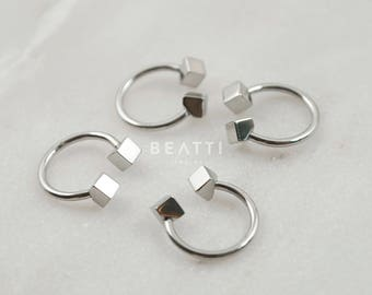 Cartilage Earring, Nose Ring, Septum Ring, unique barbell, Horseshoe, septum ring, daith piercing, rook