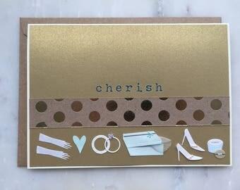 Cherish Wedding Card - Engagement Card, Bridal Card, Wedding Card, Marriage Card