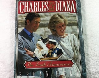 ON SALE Charles & Diana: The Tenth Anniversary book by Brian Hoey / Viking Penguin©1991 / Prince of Wales / Princess of Wales / British roya