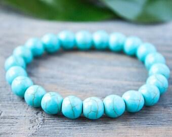 Turquoise Stacking Bracelet Trendy Boho Bracelet Bracelet under 10 Boyfriend Bracelet Blue Bracelet Hipster Bracelet Hippie Promo Bracelet