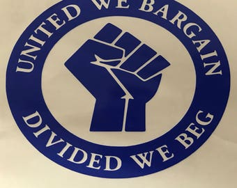 United we bargain vinyl decal