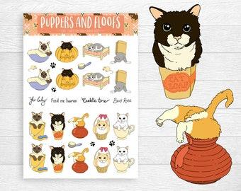 If I Fits I Sits 18pk of Cat Stickers