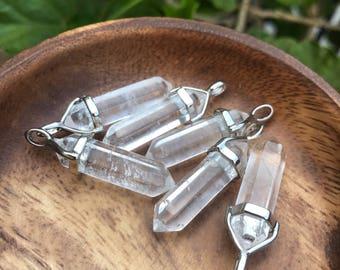 Clear Quartz Pendant for Amplifying Energy Clear Quartz Necklace