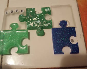 Puzzle Pieces Charms