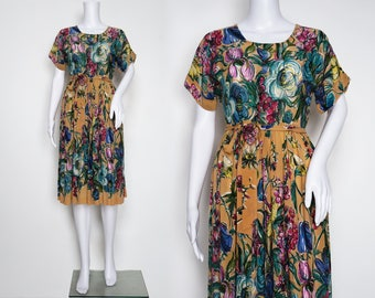 Early 1940s Floral Day Dress