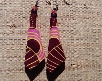 Wax ethnic earrings