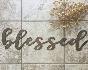 "Metal ""blessed"" Sign"