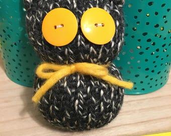 Black & White Owl Figurine