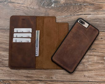 Magnetic Detachable Wallet Case for iPhone 8 and 8 Plus, Leather Wallet Case for iPhone 8 and 8 Plus, Leather Case for iphone 8, #POLİ
