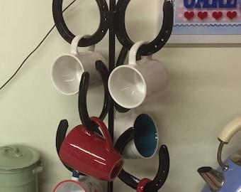Horseshoe mug tree