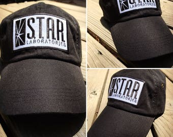 The Flash Star Lab Embroidered Baseball Dad Hat Strapback Humor Dat Hats Women's Hats Men's Hats