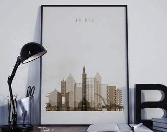 Taipei Art Taipei Photo Taipei Print Taipei Poster Taipei Watercolor Taipei Wall Art Taipei Wall Decor Taipei Home Decor Taipei City