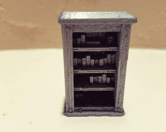 Bookcase w/Books - 3D Printed 28mm Scale
