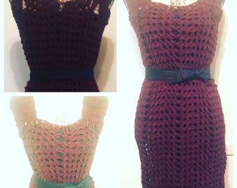 Claret Crochet Dress