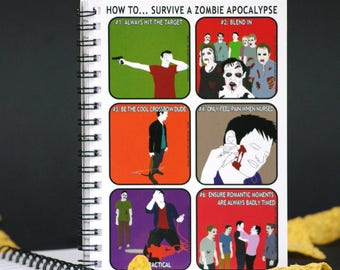 Funny Notebook - How to survive a Zombie Apocalypse
