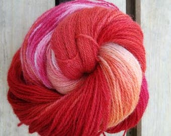 Fierce Handdyed Pure wool Yarn Fingering laine teinte knitting tricot