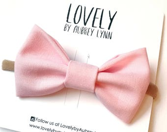 Blush Pink Hairbow / Baby Girl Headband