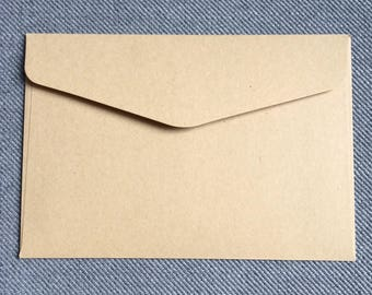 10 x kraft paper envelopes