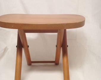 Tievco Fold'N Carry Stool Solid Wood Stool