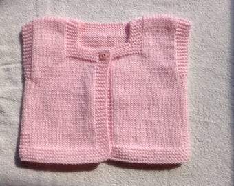Sleeveless Cardigan for baby 6 months