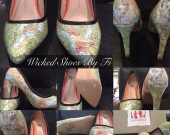 Custom Design Decoupage Shoes