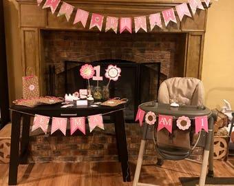 Baby Girl 1st Birthday Kit