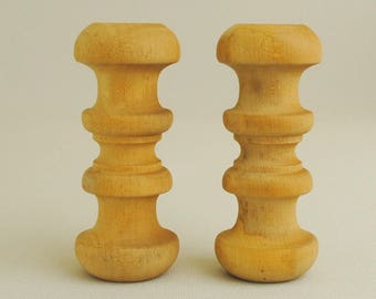 Solid Wood Turnings or Finials 2 Pieces