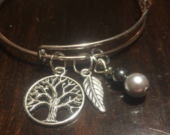 Assorted Bangles with Charms Moon Stars Pride Equality Love Bee Photographer Tree Leaf Feather Rainbow