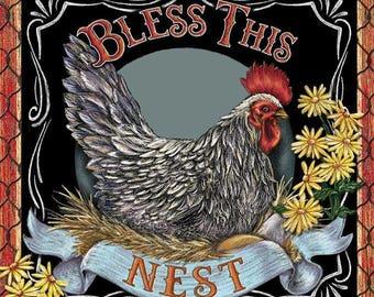 Bless This Nest Cross Stitch Pattern***L@@K***