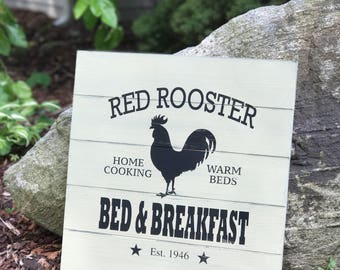 "17"" Red Rooster Bed & Breakfast"