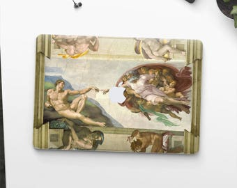 "Macbook Pro skin Michelangelo ""The Creation of Adam"" Macbook Pro 15 skin Macbook Pro 13 skin Macbook Pro 2018 cover. Macbook Air skin."