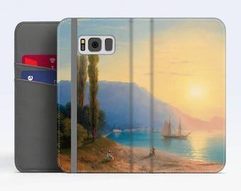 "Ivan Aivazovsky, ""Sunset over Yalta"". iPhone X Wallet case iPhone 8 Wallet case iPhone 7 Plus Wallet case.Samsung Wallet cases."
